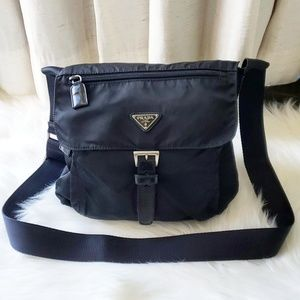 Prada Black Mini Nylon Shoulder Crossbody Bag